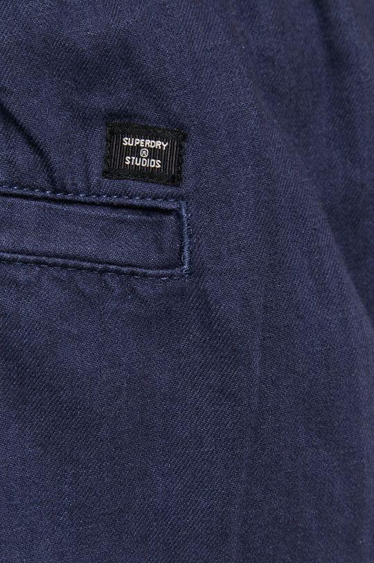 granatowy Superdry - Spodnie