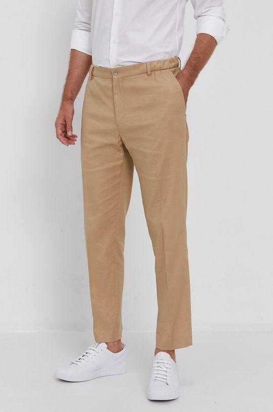beżowy Calvin Klein - Spodnie Męski