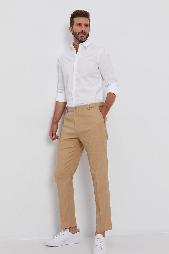 Calvin Klein - Spodnie beżowy