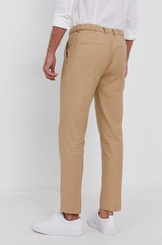 Calvin Klein - Spodnie 58 % Bawełna, 2 % Elastan, 40 % Len