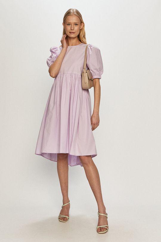 Vero Moda - Sukienka winogronowy