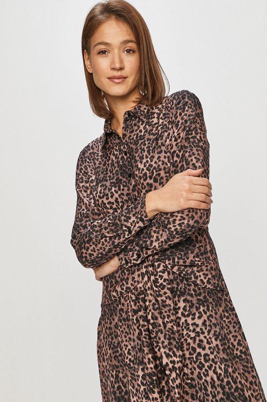 brązowy Guess - Sukienka