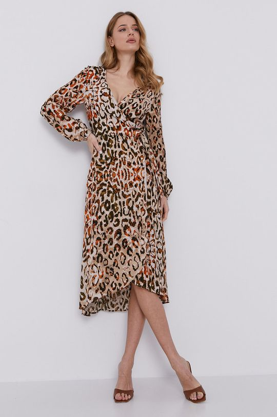 Guess - Sukienka brązowy