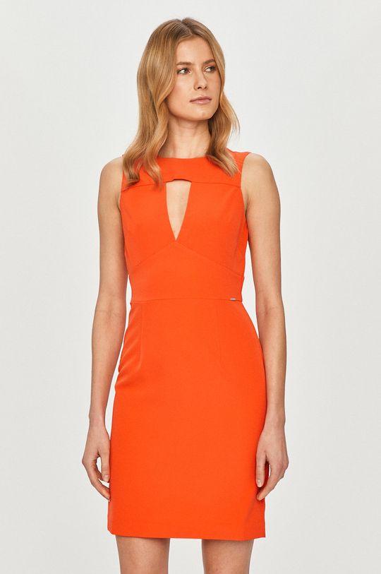 oranžová Guess - Šaty Dámsky