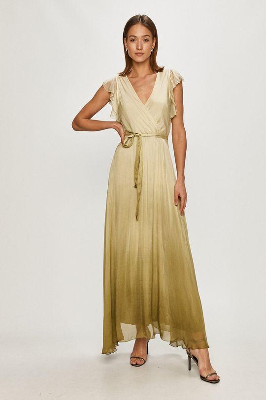 Guess - Sukienka jasny oliwkowy