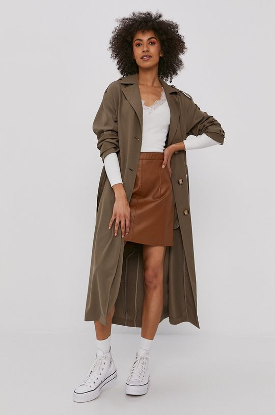 Only - Trench kabát šedá