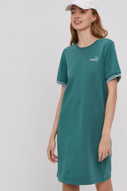 Puma - Sukienka stalowy niebieski