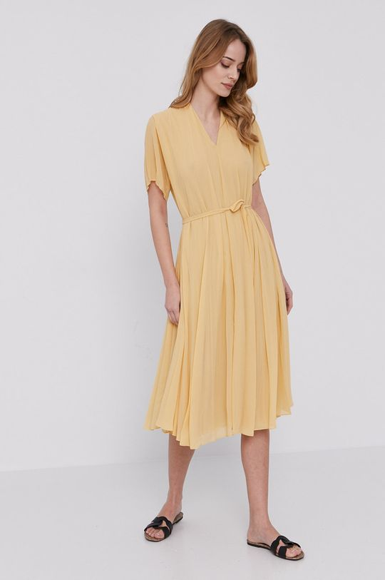 Samsoe Samsoe - Šaty svetložltá