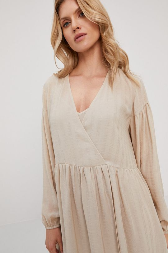 piaskowy Samsoe Samsoe - Sukienka