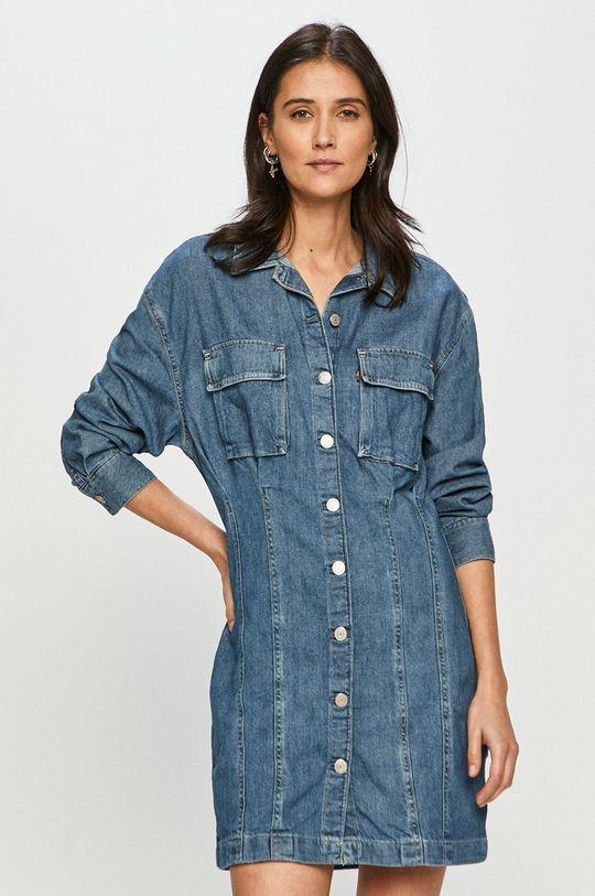 niebieski Levi's - Sukienka jeansowa Damski