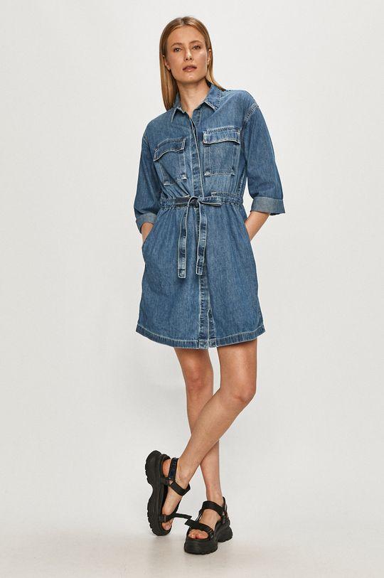 Levi's - Rifľové šaty modrá