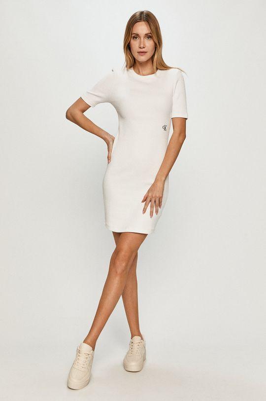 Calvin Klein Jeans - Sukienka biały