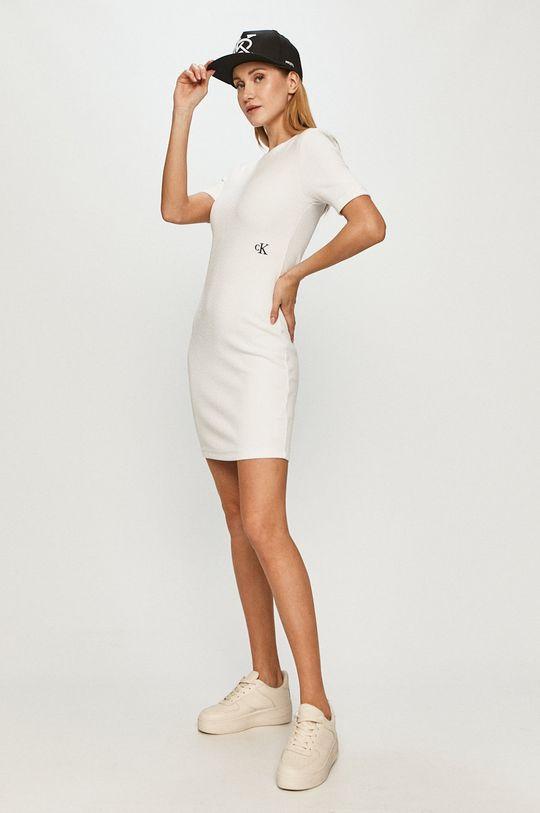 biały Calvin Klein Jeans - Sukienka