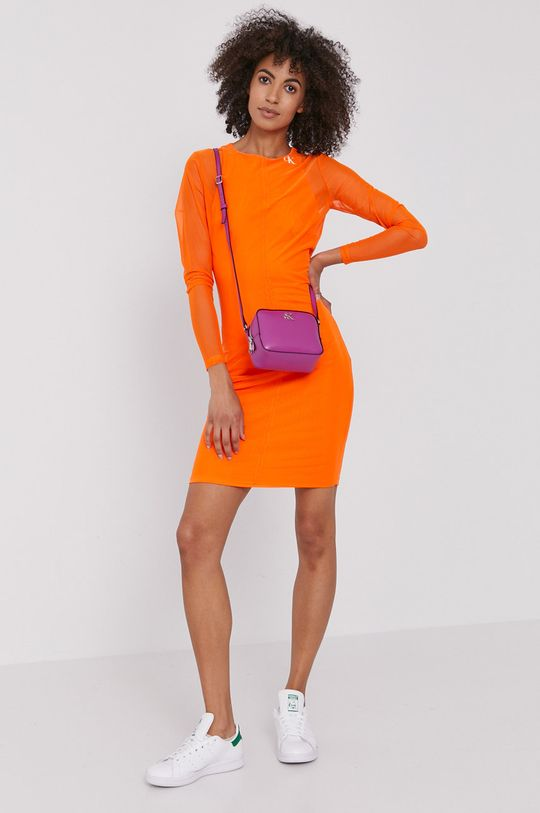 pomarańczowy Calvin Klein Jeans - Sukienka Damski