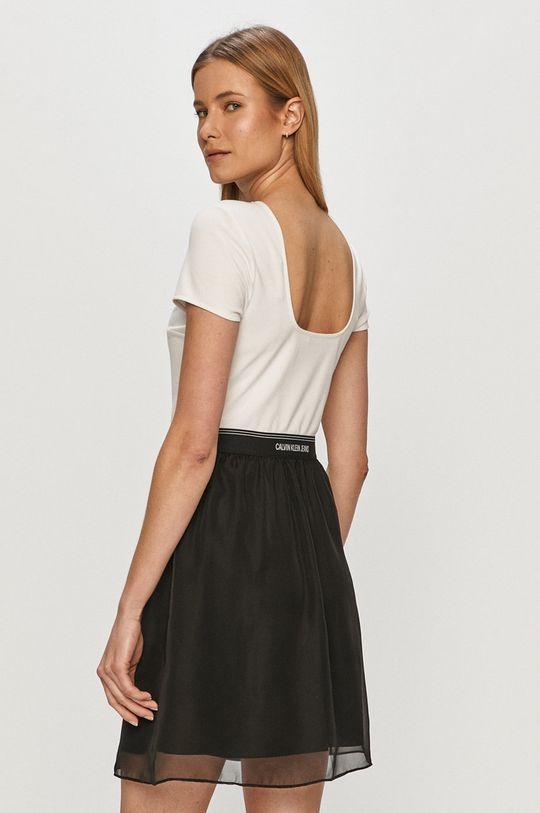 Calvin Klein Jeans - Rochie  Captuseala: 100% Poliester  Materialul de baza: 4% Elastan, 77% Poliester , 19% Viscoza