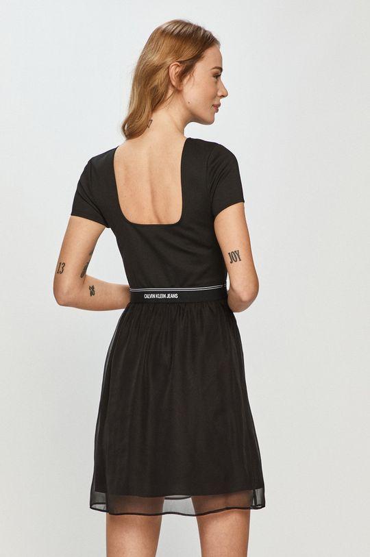 Calvin Klein Jeans - Sukienka Podszewka: 100 % Poliester, Materiał zasadniczy: 4 % Elastan, 77 % Poliester, 19 % Wiskoza