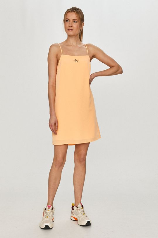Calvin Klein Jeans - Šaty oranžová