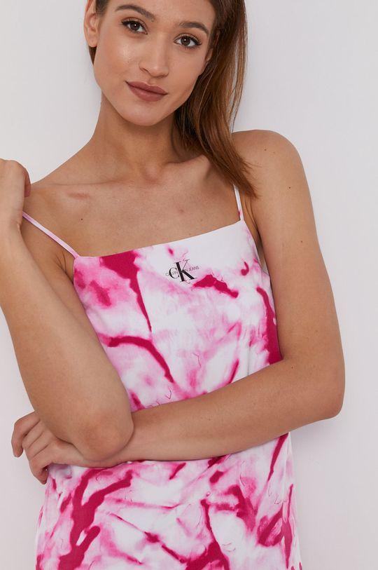 fuksja Calvin Klein Jeans - Sukienka