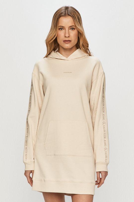 piesková Calvin Klein Jeans - Šaty Dámsky