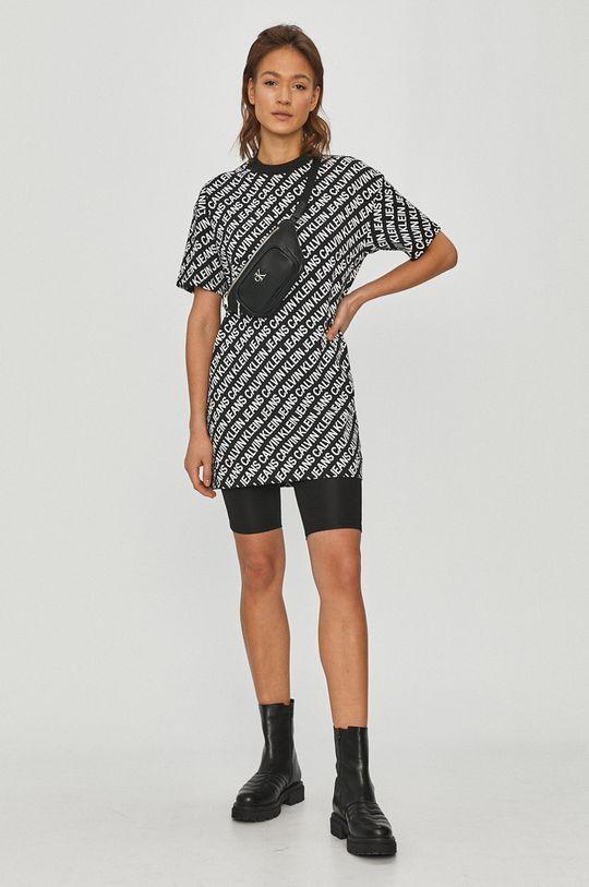 čierna Calvin Klein Jeans - Šaty Dámsky
