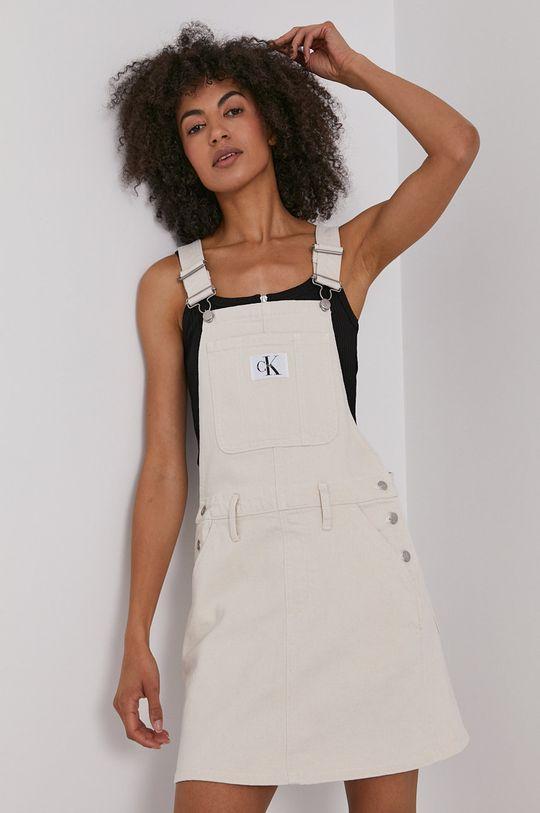 kremowy Calvin Klein Jeans - Sukienka jeansowa Damski