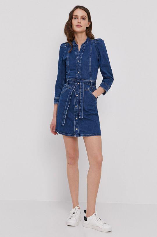 Pepe Jeans - Sukienka jeansowa Dolly niebieski