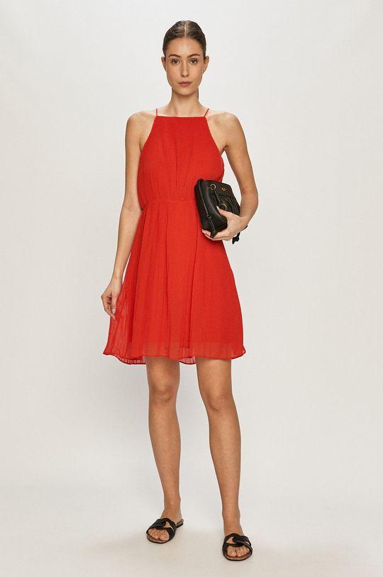 Pepe Jeans - Sukienka Mine czerwony