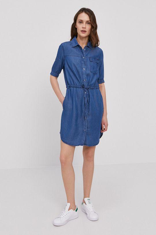 Pepe Jeans - Sukienka Glaze niebieski