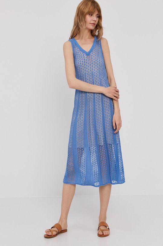 Pepe Jeans - Sukienka Lara niebieski