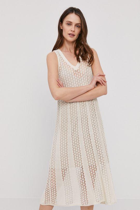 Pepe Jeans - Sukienka Lara kremowy