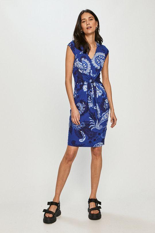 Desigual - Šaty modrá