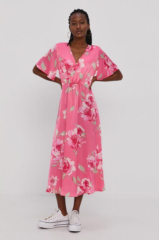 Vila - Sukienka ostry różowy