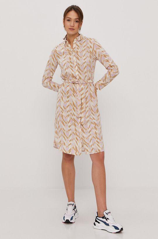 Vero Moda - Šaty smetanová