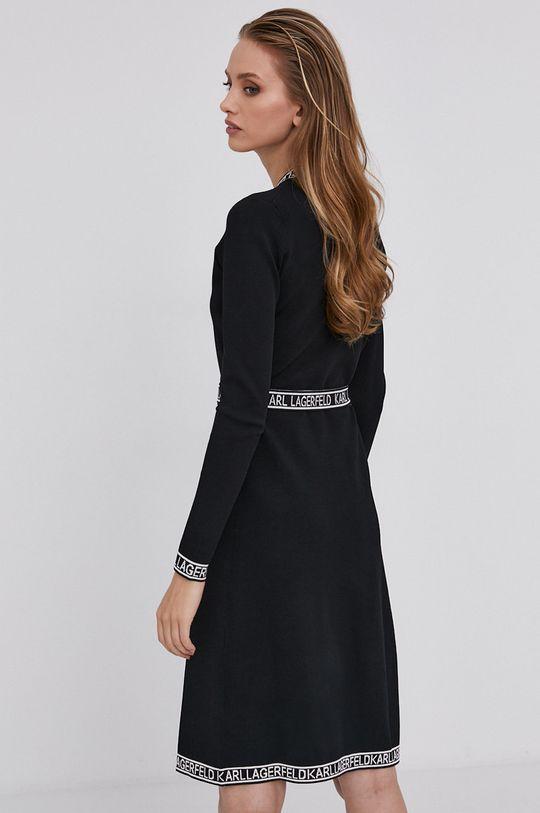 Karl Lagerfeld - Sukienka 4 % Elastan, 21 % Poliester, 75 % Wiskoza
