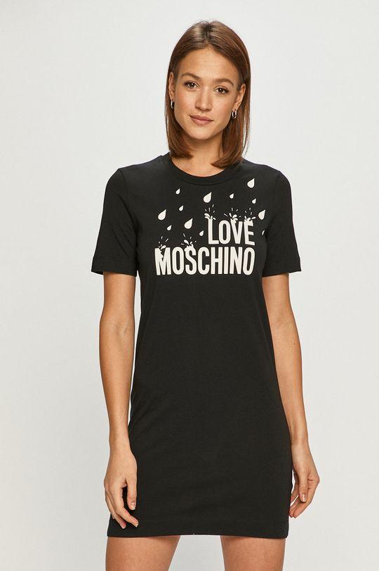 czarny Love Moschino - Sukienka Damski