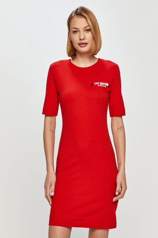 czerwony Love Moschino - Sukienka Damski