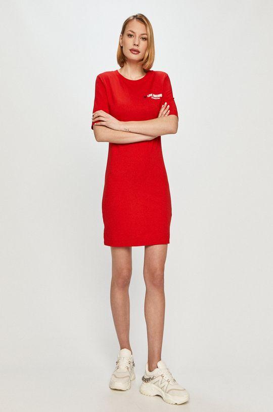 Love Moschino - Sukienka czerwony