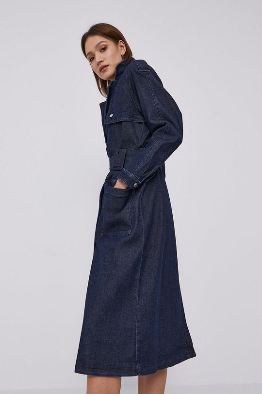 granatowy Hugo - Sukienka jeansowa