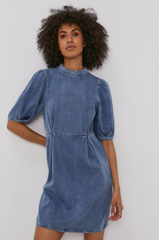 modrá Vero Moda - Šaty Dámsky