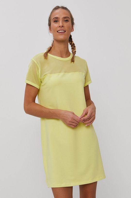 Dkny - Šaty žlutě zelená