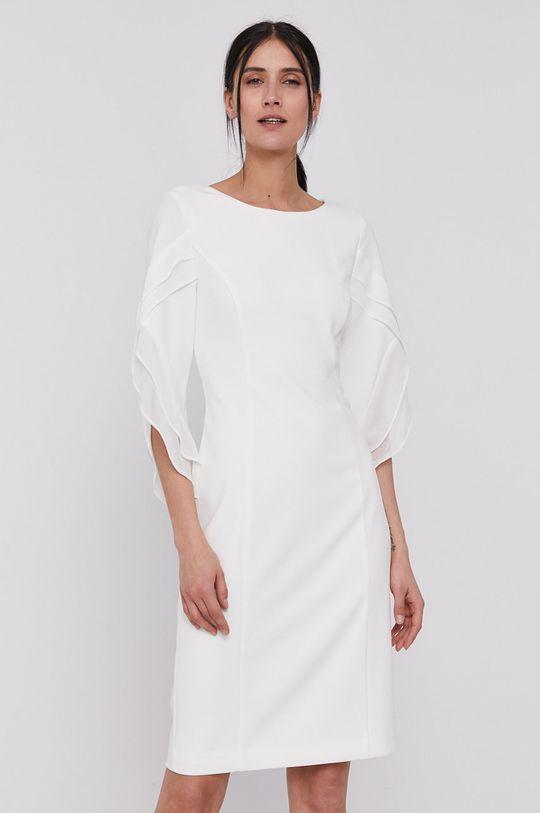 Dkny - Sukienka kremowy