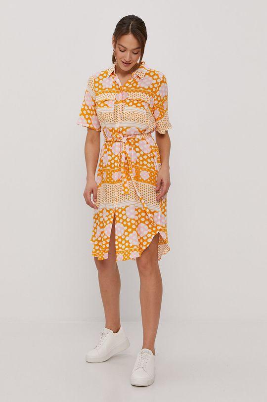 Vero Moda - Sukienka pomarańczowy