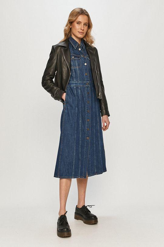 Lee - Rifľové šaty tmavomodrá