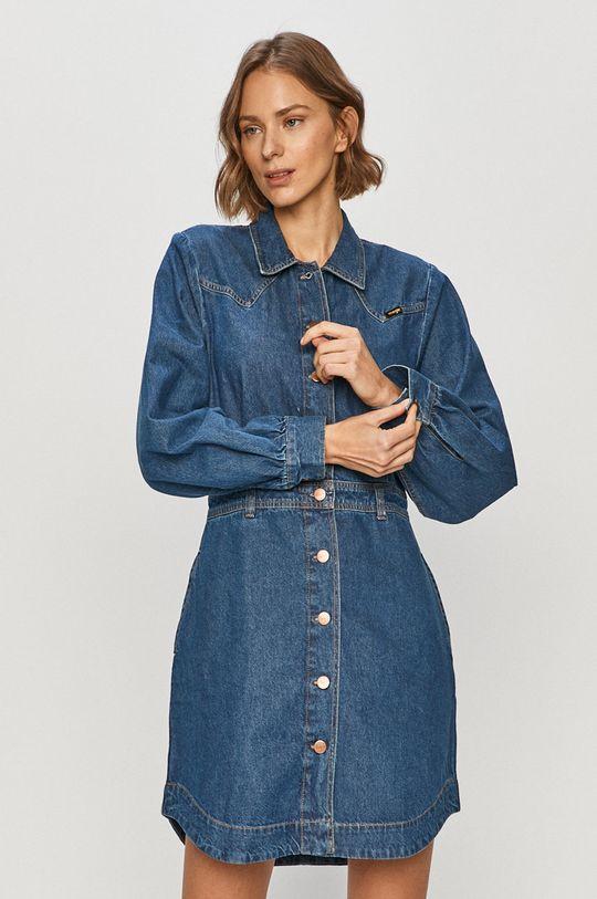 niebieski Wrangler - Sukienka jeansowa Damski