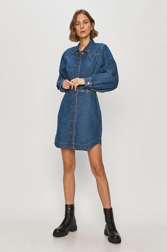 Wrangler - Sukienka jeansowa niebieski