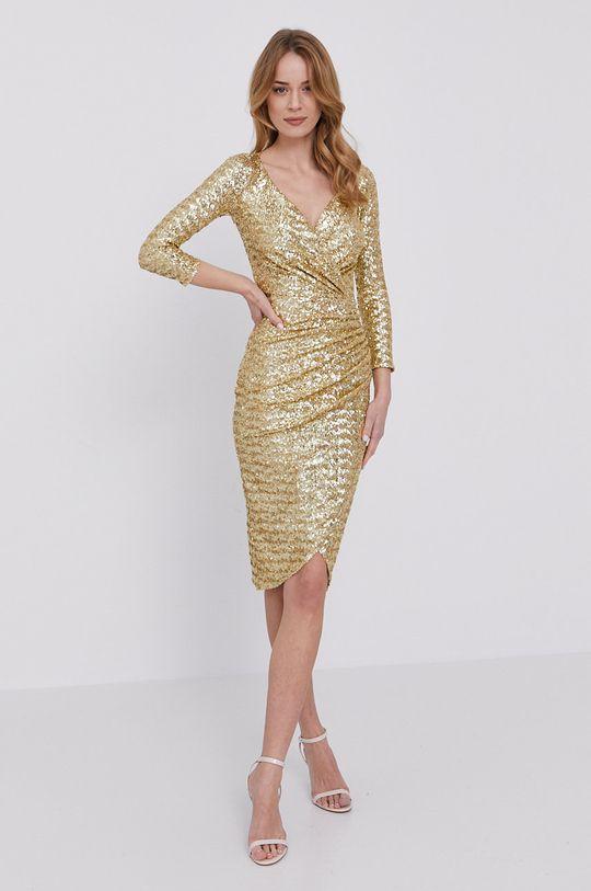 Elisabetta Franchi - Sukienka złoty