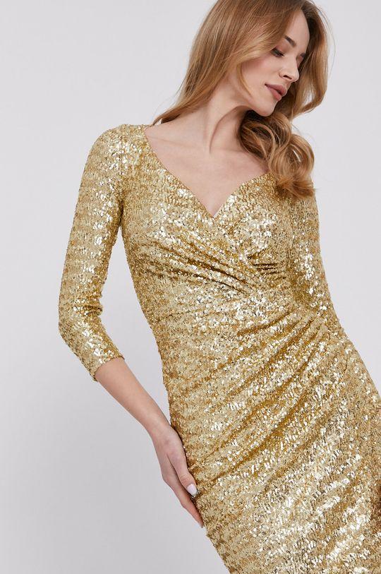 złoty Elisabetta Franchi - Sukienka