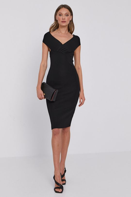 Elisabetta Franchi - Sukienka czarny