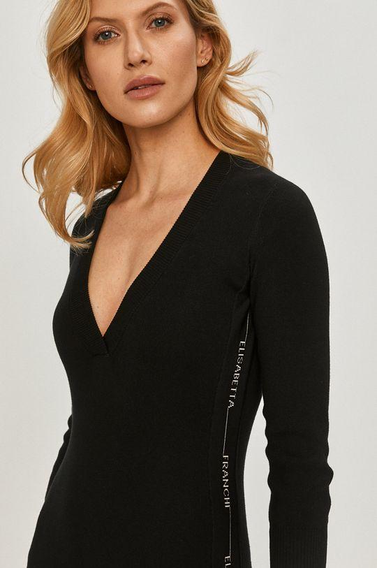 czarny Elisabetta Franchi - Sukienka