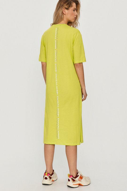 Armani Exchange - Šaty žlto-zelená